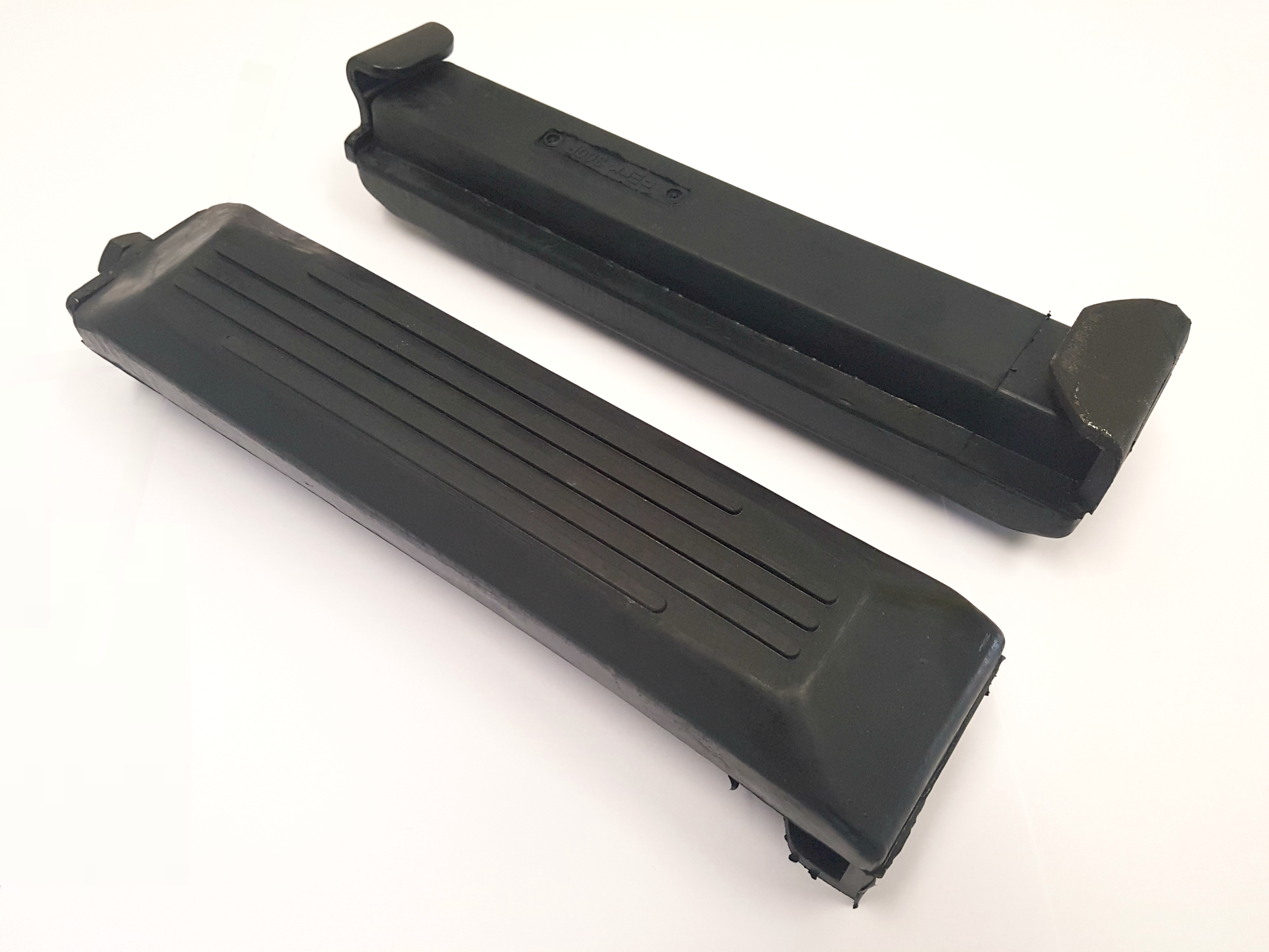 Clip on rubber pads