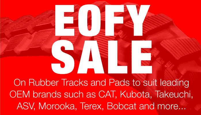 Rubber Tracks and Pads for Sale