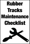 Maintenance and care of rubber tracks