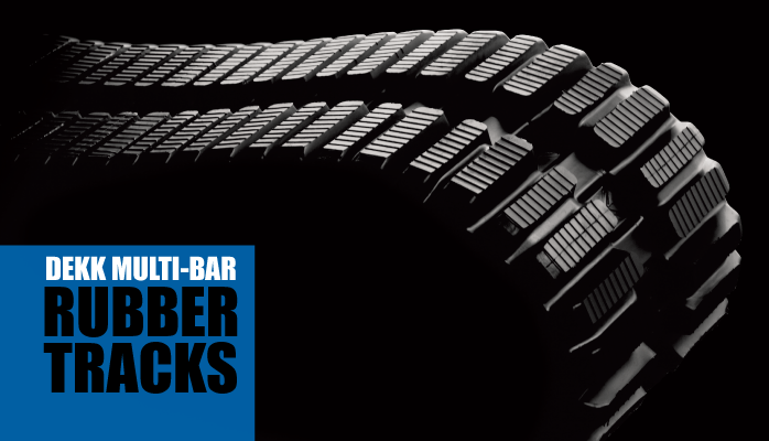 DEKK Multi-Bar Rubber Tracks