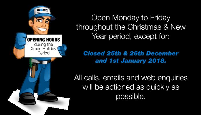 DEKK Christmas Opening Hours