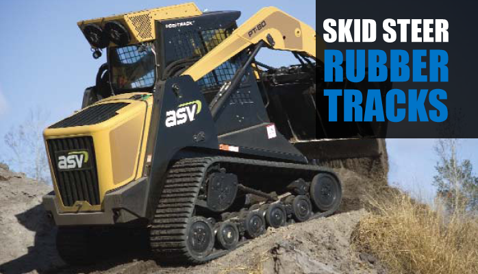 Rubber Tracks for skid steer machines