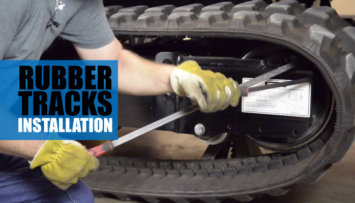 How to install rubber tracks