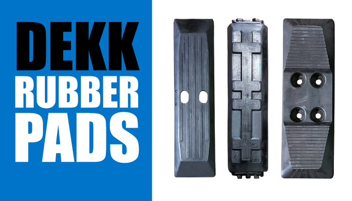 DEKK Rubber Pads for Earthmoving and Construction Machines