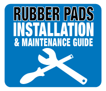 How to fit rubber pads to your machine