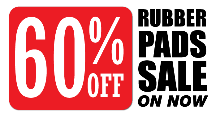December Rubber Pads Sale