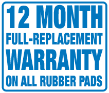 rubber pad warranty