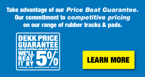 Rubber Tracks and Pads Price Beat Guarantee