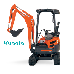 Kubota U17-3 excavator rubber tracks